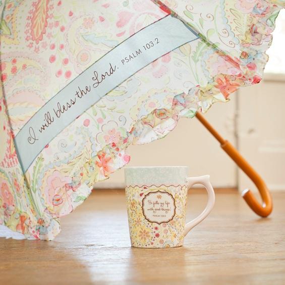 Good Things - He Fills My Life with Good Things - Mug & Umbrella Gift Set image
