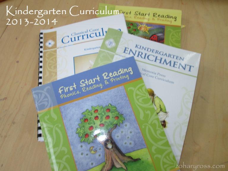 Our Homeschool Curriculum: Kindergarten and Pre-school