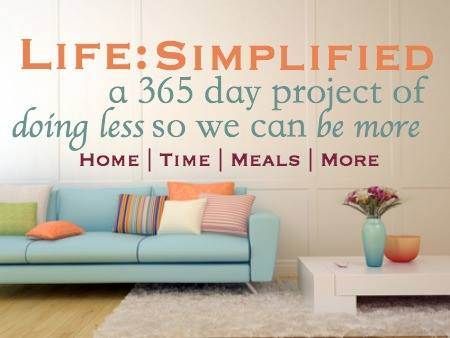 A Simpler 2014: The Life Simplified Project