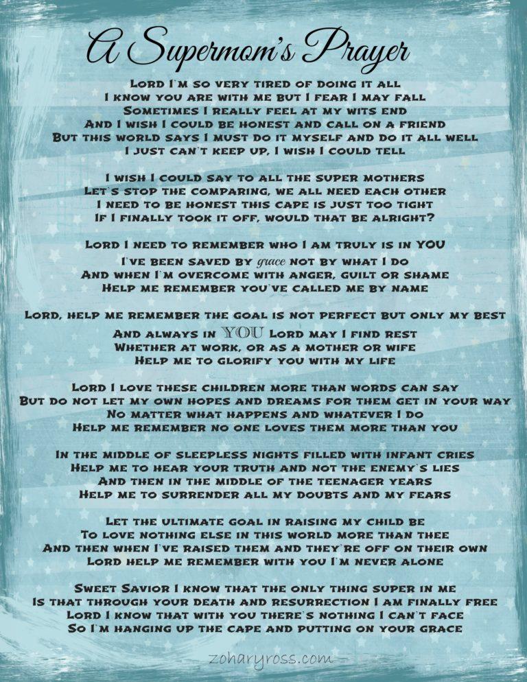 A Supermom's Prayer