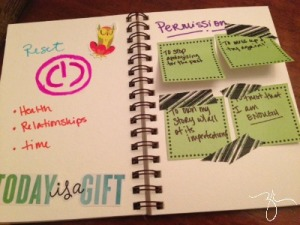 Here's a peek at my journal