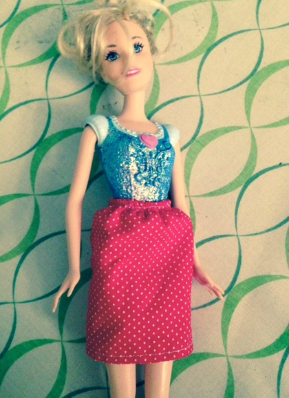 Doesn't Cinderella look lovely in polka dots?